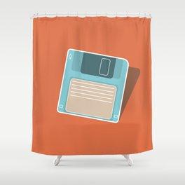 90's Retro Floppy Disk Shower Curtain