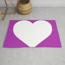 Heart (White & Purple) Rug