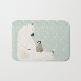 penguin and bear Bath Mat