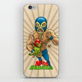 Mito & Sancho, sensacionales de la lucha libre iPhone Skin