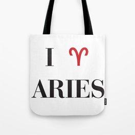 I heart Aries Tote Bag