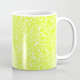 Spacey Melange - White and Fluorescent Yellow Coffee Mug