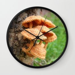 Knitted Velvet Foot Fungi Wall Clock