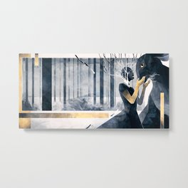The Gold Within Metal Print