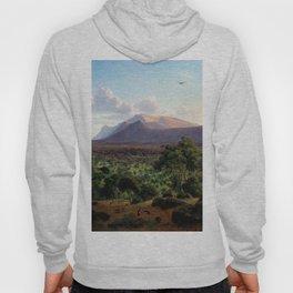 Mount William from Mount Dryden by Eu von Guerard Date 1857  Romanticism  Landscape Hoody