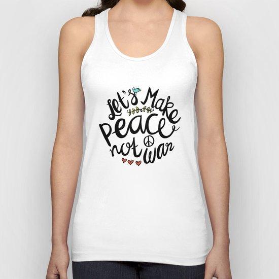 Peace Not War Unisex Tank Top