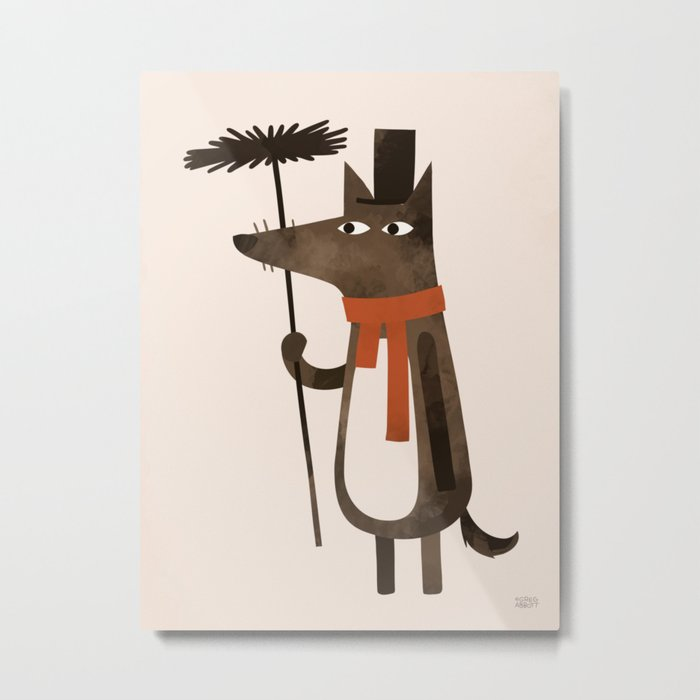 Chimley the Sweep Metal Print