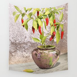 Thai Peppers Wall Tapestry