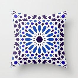 -A18- Original Traditional Moroccan Tile Design. Throw Pillow