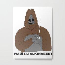 Gorilla Smoking Metal Print