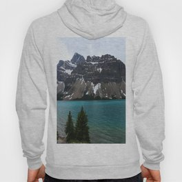 Bow Lake With Crowfoot Mountains Hoody