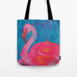 Neon Flamingo Tote Bag