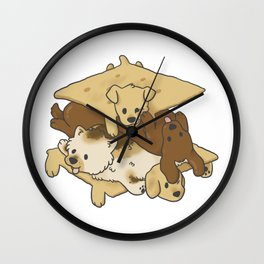 S'mores Puppies Wall Clock