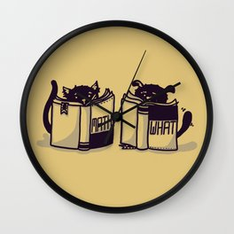 I'm More of a Dog Person Wall Clock