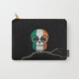 Baby Owl with Glasses and Irish Flag Carry-All Pouch