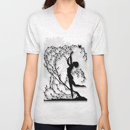 Dancing In Willows Unisex V-Neck