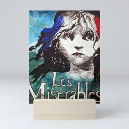 Les Miserables Playbill Art Mini Art Print