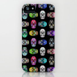 I love your Robotic Skull Heart on Black iPhone Case