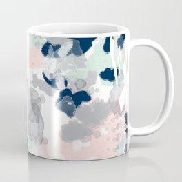 Melia - abstract minimal painting acrylic watercolor nursery mint navy pink Coffee Mug