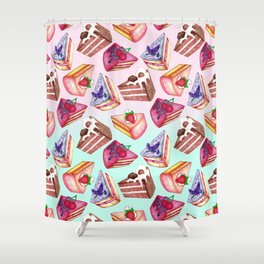 Let Them Eat Cake  Shower Curtain