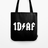 kendrawcandraw Tote Bags featuring 1D AF by kendrawcandraw