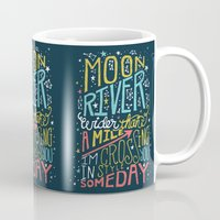 river song Mugs featuring MOON RIVER by Matthew Taylor Wilson