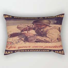 Vintage poster - Like Digging a Foxhole Rectangular Pillow
