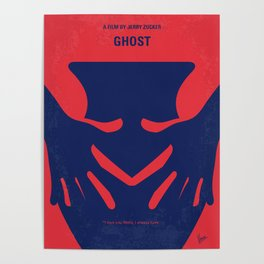 No971 My Ghost minimal movie poster Poster
