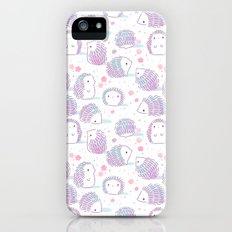 Spring Hedgehog Pattern iPhone SE Slim Case