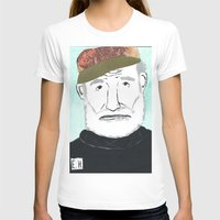 hemingway T-shirts featuring Ernest Hemingway with a Hat by DestructionPischke
