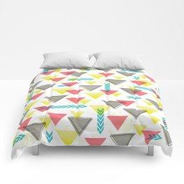 Wild Triangles Comforters