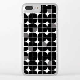 Monochrome circle pattern Clear iPhone Case