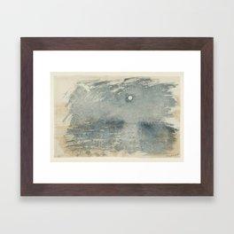 Joseph Mallord William Turner 1775–1851   Moonlight Framed Art Print