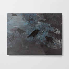 Distorted Caw Metal Print