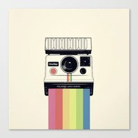 polaroid Canvas Prints featuring polaroid. by Pink Berry Patterns