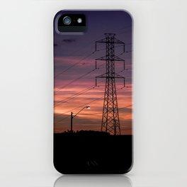Power sunset iPhone Case