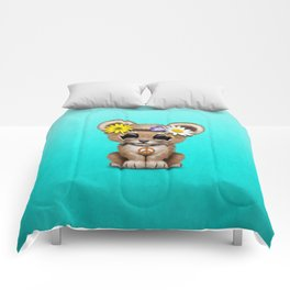 Cute Baby Lion Cub Hippie Comforters