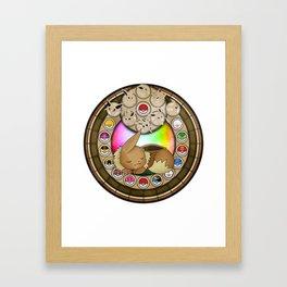 Eevolution Mandala Framed Art Print