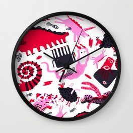 Burn The Menagerie Wall Clock