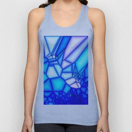 Glowing blue Unisex Tank Top