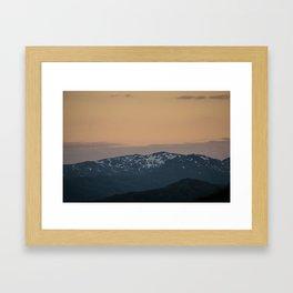 Kodiak Snowcaps Framed Art Print