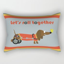 let's roll together Rectangular Pillow