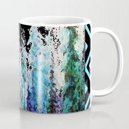 Western Turquoise Modern Art Mountain Trees Blue  Art Coffee Mug