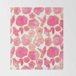 Beautiful Floral Print Throw Blanket