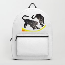 Two Tigers jGibney The MUSEUM Society6 Gifts Backpack