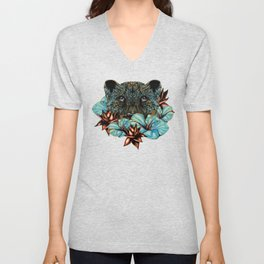 The Tiger and the Flower Unisex V-Neck