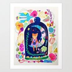Little fox in Secret place Art Print