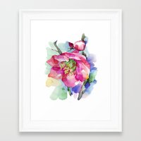 cherry blossom Framed Art Prints featuring Cherry Blossom by A cup of grey tea