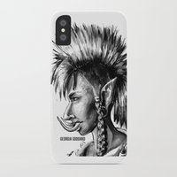 warcraft iPhone & iPod Cases featuring Punk Troll by Georgia Goddard