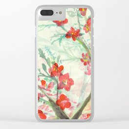 waterflowers Clear iPhone Case